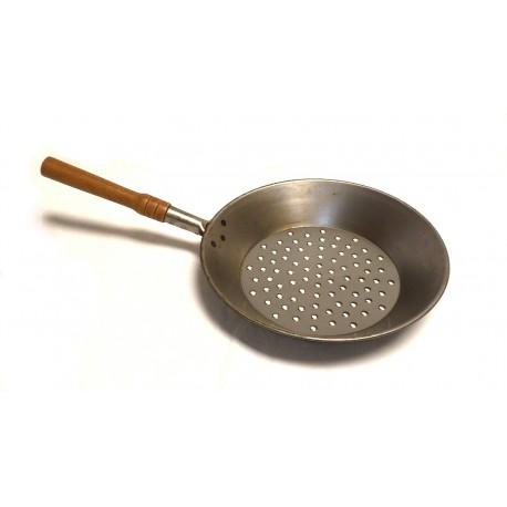 Padella per castagne in Ferro cm.28
