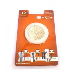 Ricambio Moka Forewer (anche per Bialetti) 2 Guarnizioni silicone + filtro