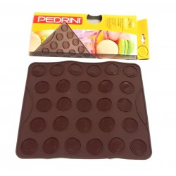 Stampo dolce silicone macarons spumiglie Pedrini cm.25x29