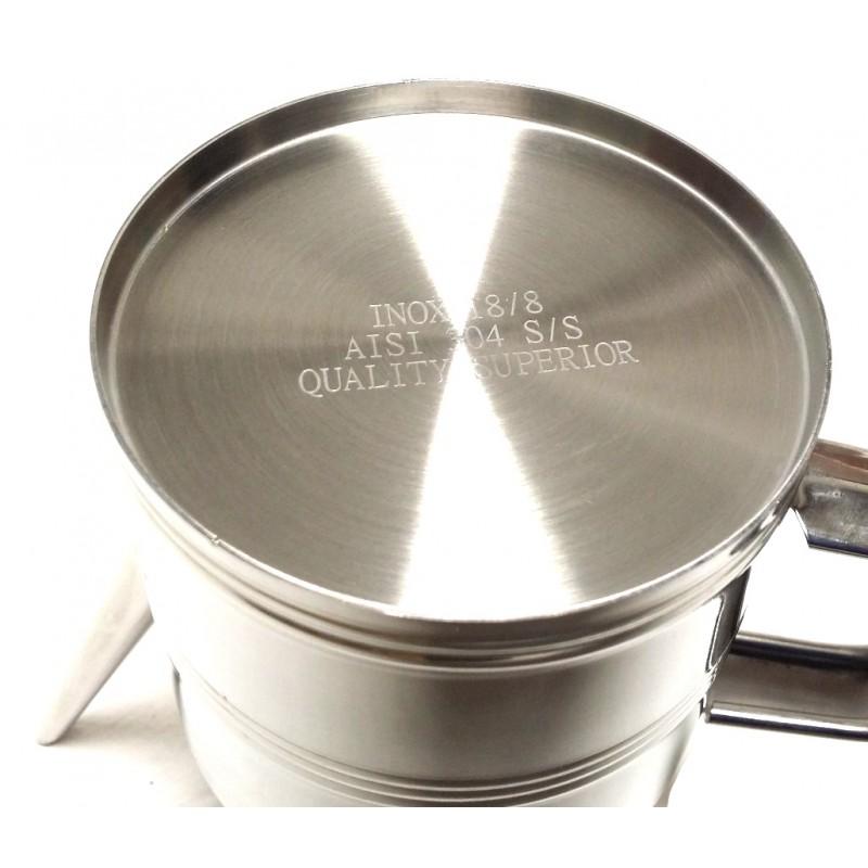 Utensili da cucina oliera in acciaio inox con becco 625 ml for Utensili da cucina in acciaio