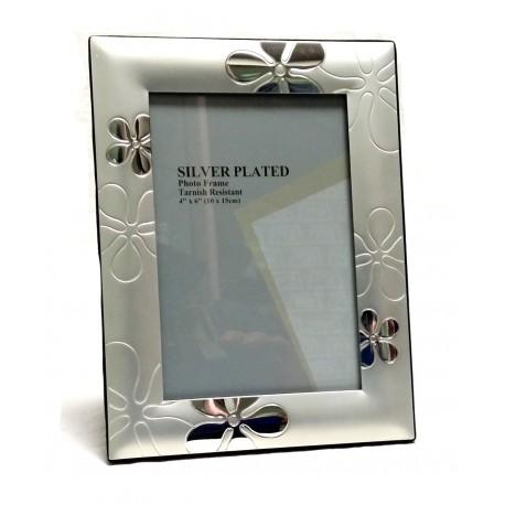 Portafoto Silver Plate Mod. Fiore cm.10x15