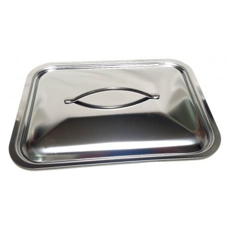 Coperchio Rettangolare acciaio inox pesante  cm.25