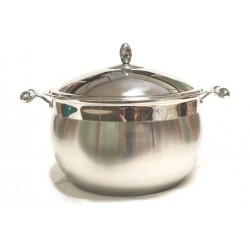 "Casseruola inox cm.30 con Coperchio linea ""Collection"" triplo fondo"