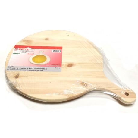 Tagliere da polenta in legno Abete Ø cm.35