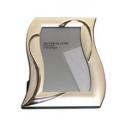 Portafoto Silver plate Mod. cuore cm.20x25