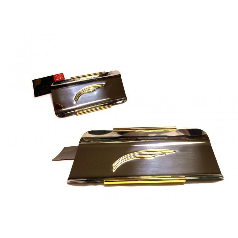 Idea regalo portagressini inox oro rilevo for Sito regalo oggetti