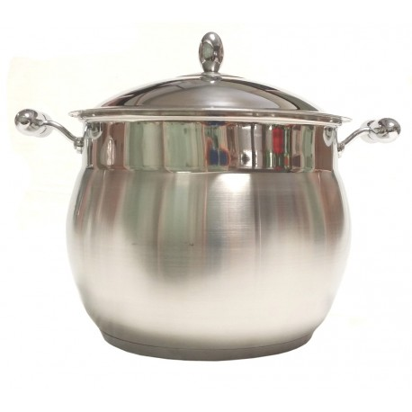 "Pentola inox cm.26 con Coperchio linea ""Collection"" triplo fondo"