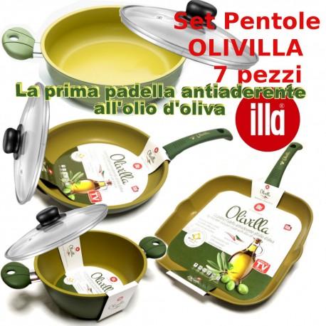 Set Pentole Olivilla 7pz con coperchi in omaggio