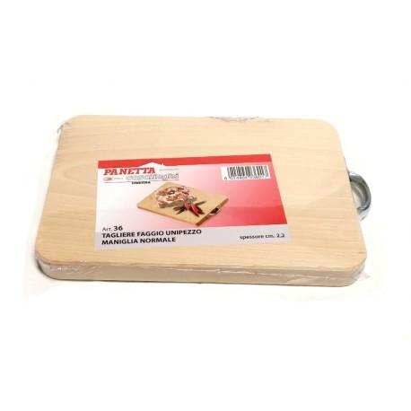Tagliere unipezzo in legno di faggio cm. 25x18
