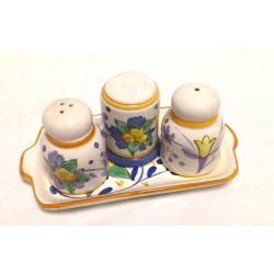 Tris pepe sale stuzzicadenti Ceramica