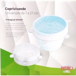 Coperchi silicone universali conf. 6 PZ.