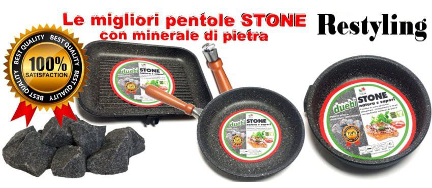 Duebi Stone le migliori pentole con minerale di pietra